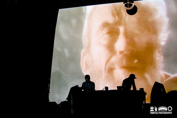 Demdike Stare in concert at ATP's I'll Be Your Mirror festival